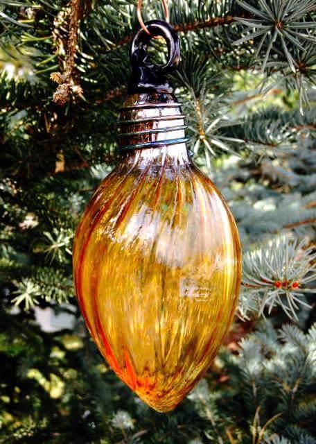 Gold Bulb Ornament by pontil