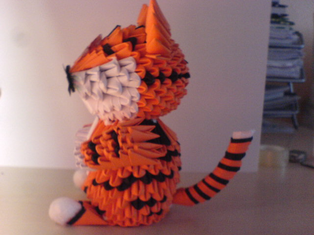 easy origami tiger ~ craft art ideas | 480x640