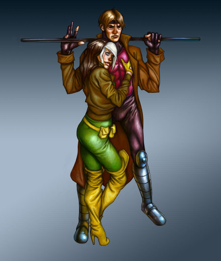 Gambit And Rogue By Deputee On DeviantArt