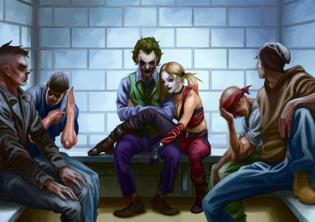 Joker and Harley Quinn by Deputee