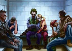 Joker and Harley Quinn by JulianDeLio