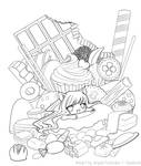 OC : Cute Sweets - Lineart