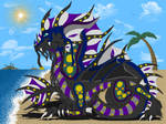 Black Water Dragon by wolffoxruler22