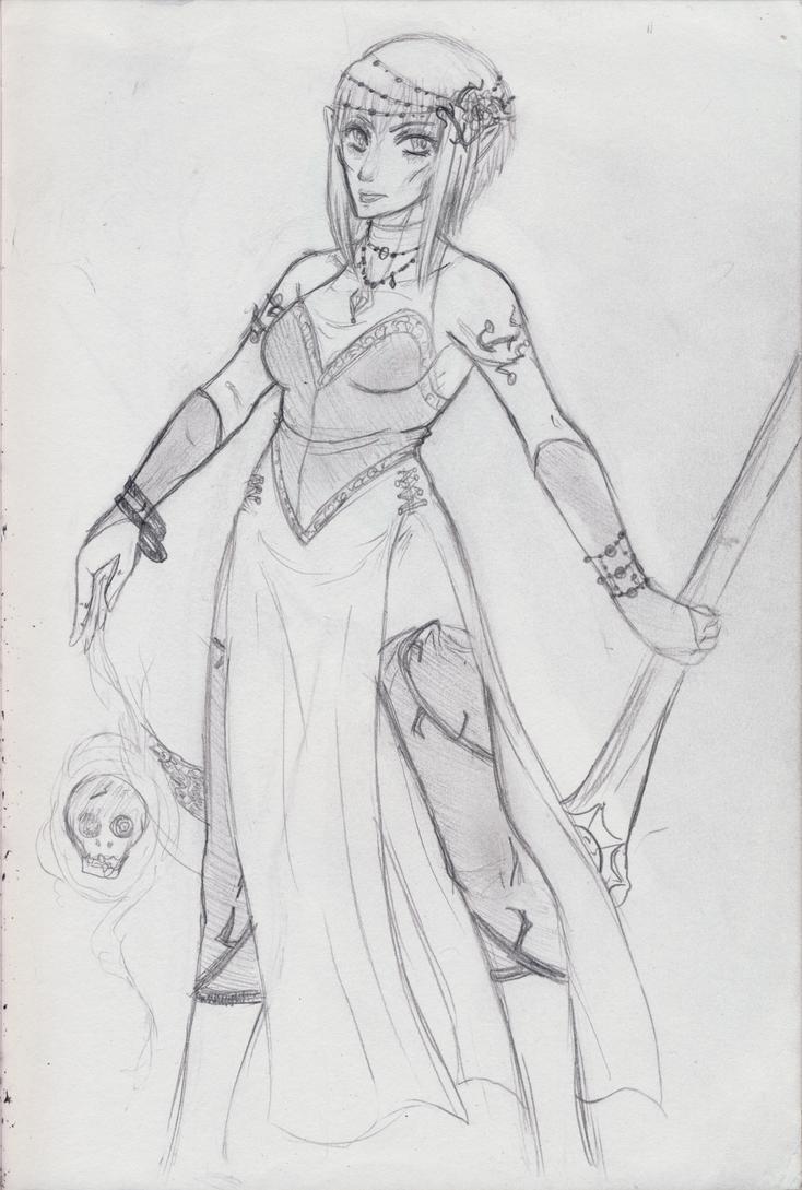 The Grim Witch -Sketch- by Elliyos
