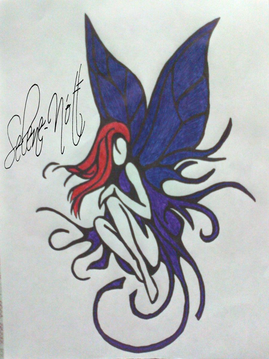 dark fairy tattoo by sapphire ks on deviantart. Black Bedroom Furniture Sets. Home Design Ideas