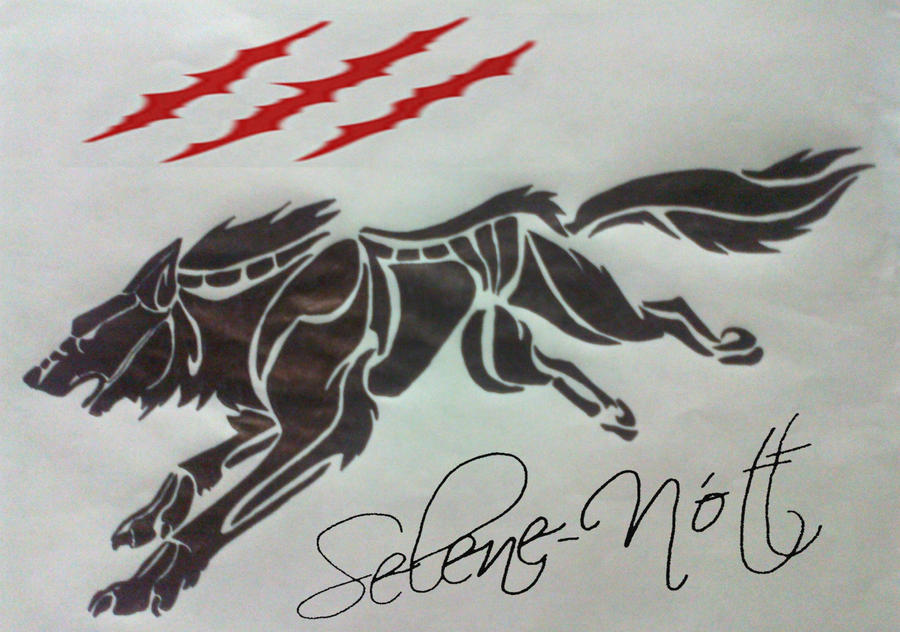 wolf tribal tattoo by sapphire ks on deviantart. Black Bedroom Furniture Sets. Home Design Ideas