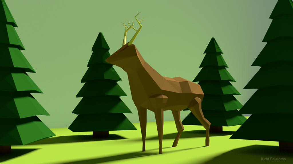 Low poly deer by Kjeld10