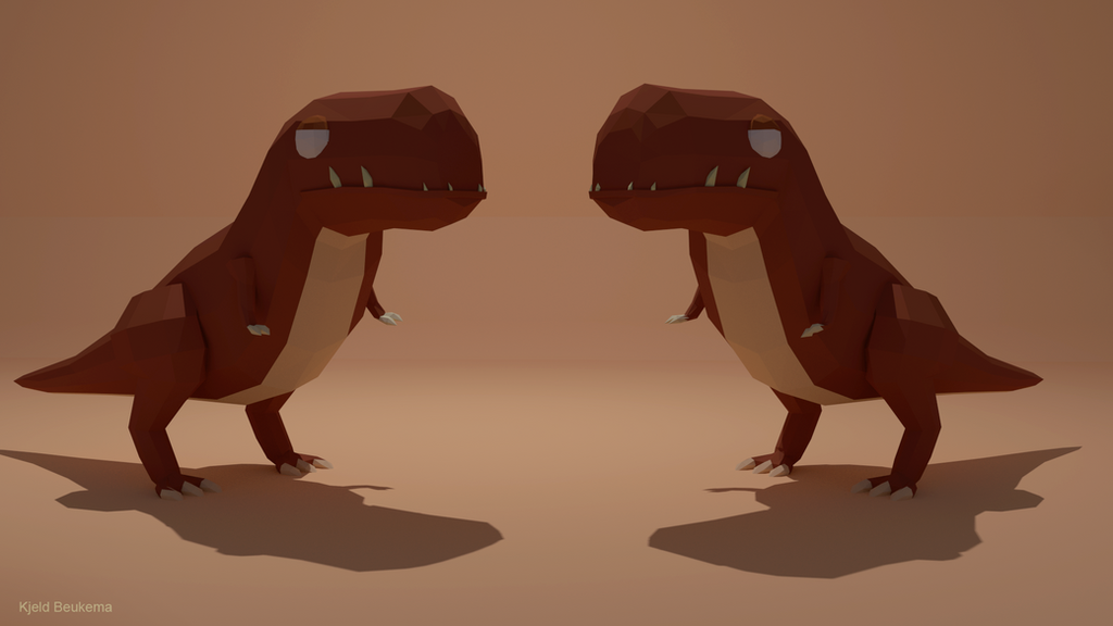 Low poly Dino by Kjeld10