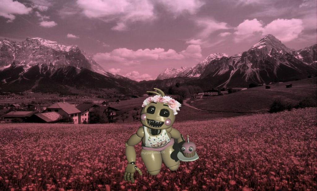 Toy chica the flower girl by purple lemon06 on deviantart