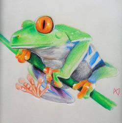 Tree Frog by drawingfreak50187