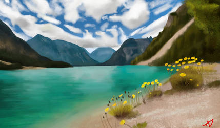 Landscape Painting by drawingfreak50187