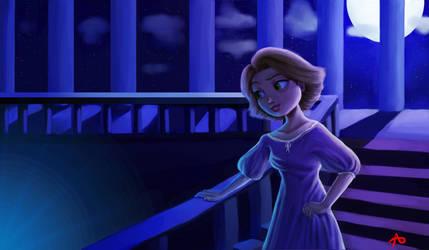 Night Rapunzel Redraw by drawingfreak50187