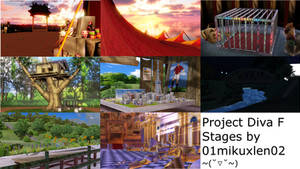 Project Diva F Stages by 01mikuxlen02