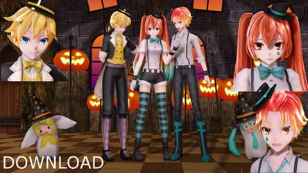 [MMD MODELS / STAGE+DL] Halloween Pack