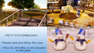 [MMD+DL] PD FT Stage Pack by 01mikuxlen02