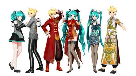 [MMD+DL] (Fina-D) 01,02 Fanclub! by 01mikuxlen02