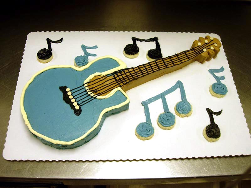 Guitar Shaped Birthday Cake Images Bjaydev for