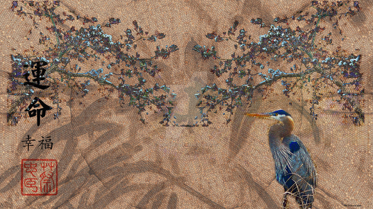 blue heron by mrdeforrest