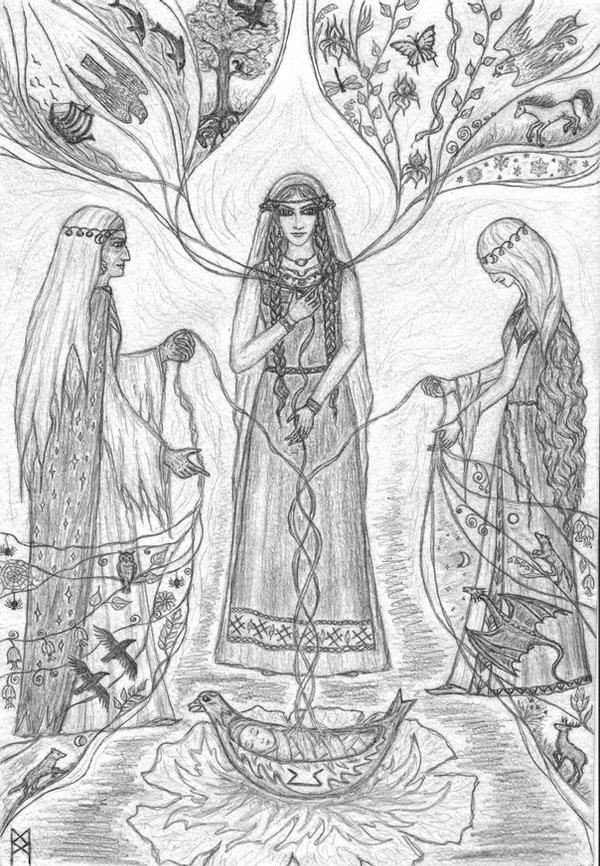Perthro rune...Norns... by AnnaIceflames