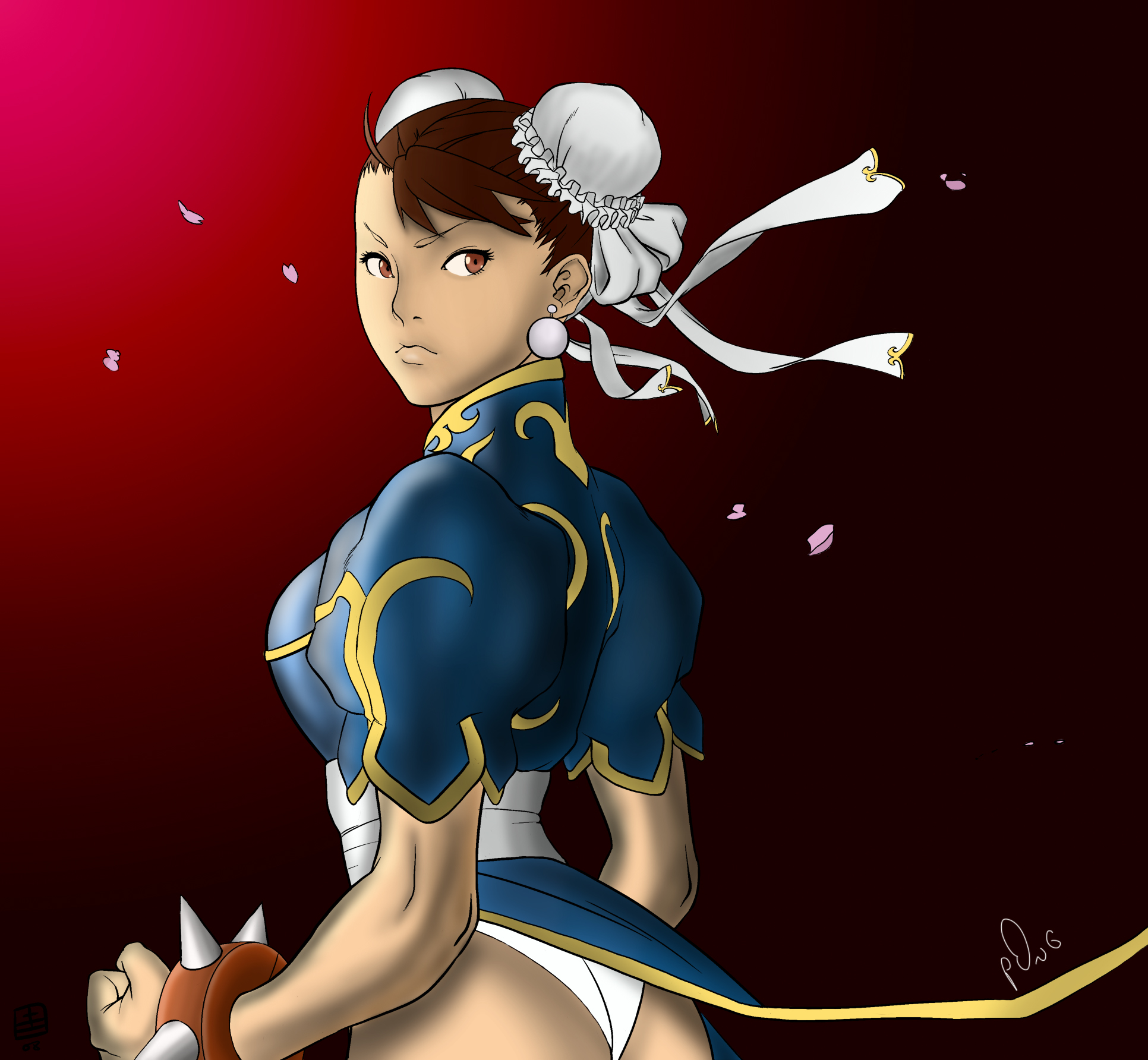 Chun-li with more shadow by p0ngbr