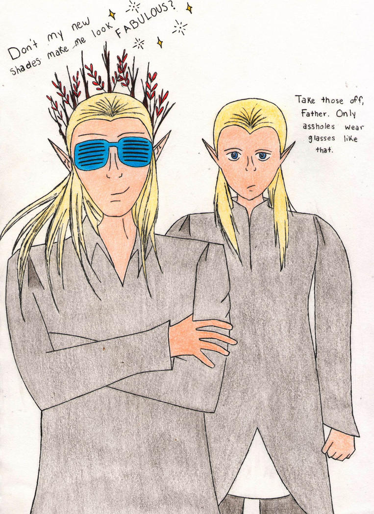 Thranduil's New Shades (colored) by Beautiful-Darkside