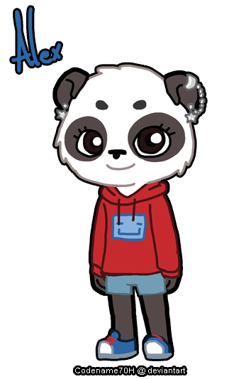 Alex the Panda by PrinceYapi