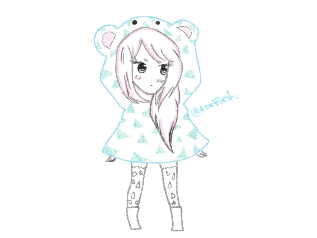 Bear hoody by AznFlesh
