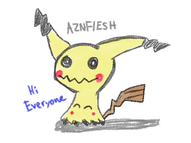 Doodle Mimikyu by AznFlesh