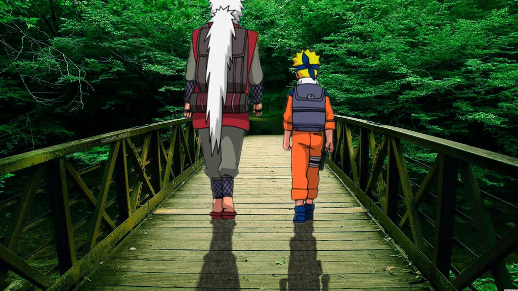 Naruto And Jiraiya by AznFlesh