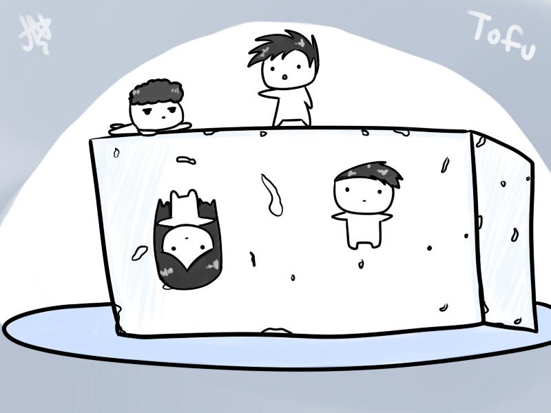 Tofu with friends by AznFlesh