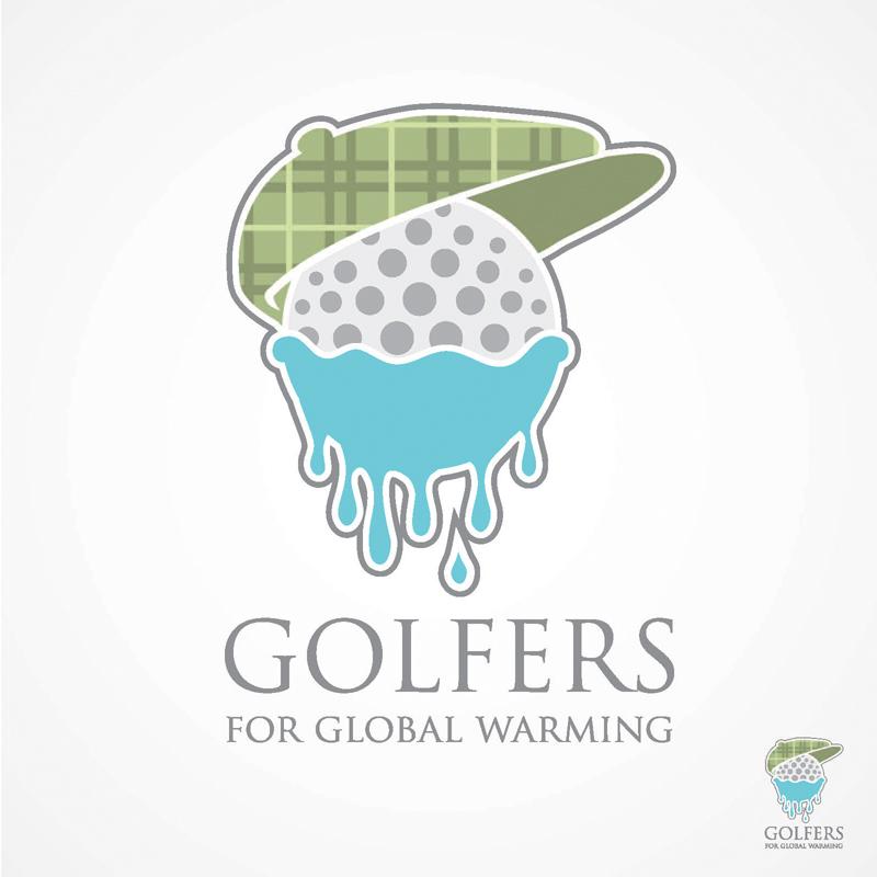 golfers for global warming logo design