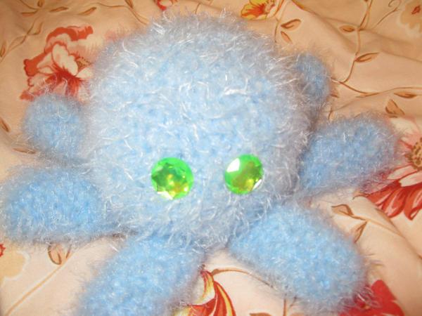 a new crochet squid by PinkuArt