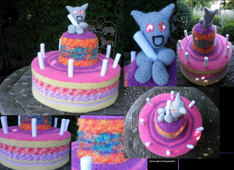 happy crocheted birthday fella