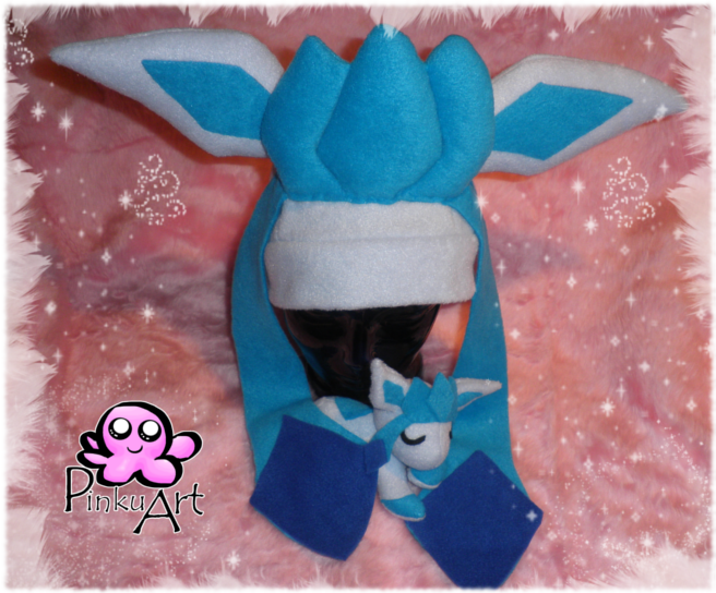 glaceon fleece hat by - photo #31