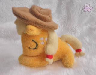 Sleeping Applejack filly plush by PinkuArt
