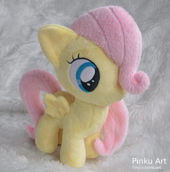 Fluttershy Filly plush by PinkuArt