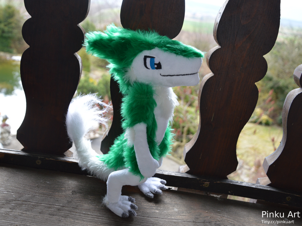 Furry Plushie Pattern: Sergal Plush By Pinkuart On