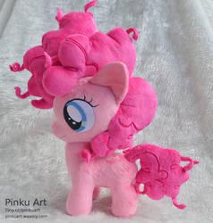 Pinkie pie filly plush by PinkuArt