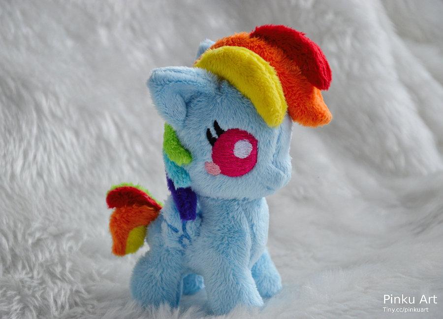 Baby Rainbow Dash plushie by PinkuArt