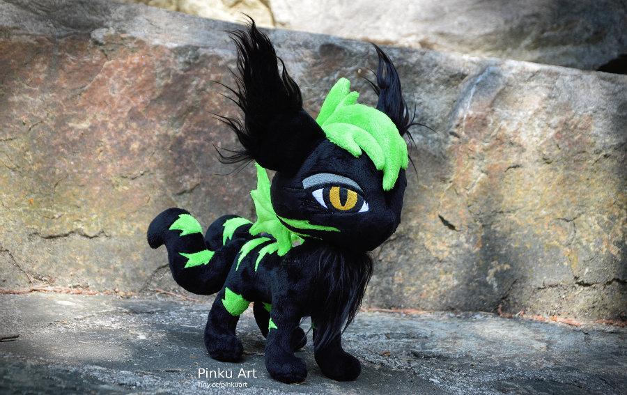 Cat OC plush LittleLuzifer by PinkuArt