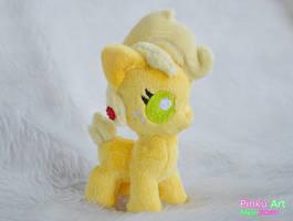 Baby Applejack plush by PinkuArt
