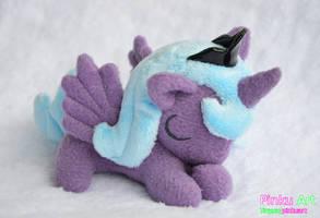Sleepy Luna filly plush by PinkuArt