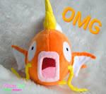 Shocked Magikarp plush