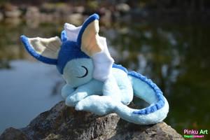 Sleepy Vaporeon plush - Minky by PinkuArt