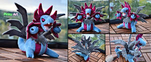 Hydreigon plush by PinkuArt