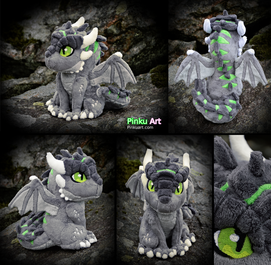 Dragon OC Ullises plush #2 by PinkuArt