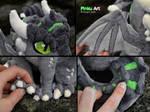 Dragon OC Ullises plush - detail shots