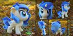 Pony OC plush - Tina Fountainheart by PinkuArt