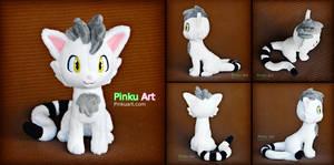 Cat Fursona plush - Vanilla