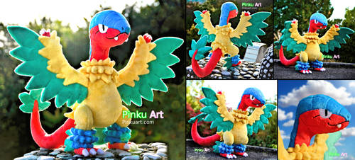 Shiny Archeops plush by PinkuArt